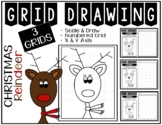 Early Finisher Activity - Christmas REINDEER Grid Drawing