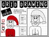 Christmas SANTA Grid Drawing - NO PREP