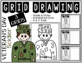 Early Finisher Activity - Veteran's Day & Memorial Day SOLDIER Grid Drawing