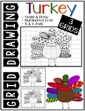 Early Finisher Activity - Thanksgiving TURKEY Grid Drawing