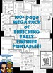 Early Finishers Activities for 1st Grade, 2nd Grade and 3r
