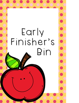 Early Finisher Bin Label