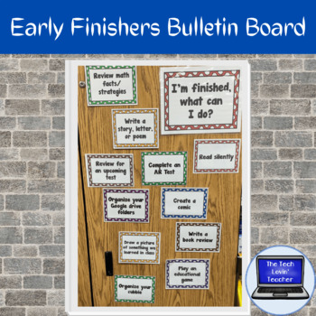 Early Finisher Bulletin Board
