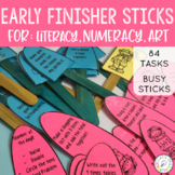Early Finisher Busy Stick Activities - Maths, Literacy, Art!