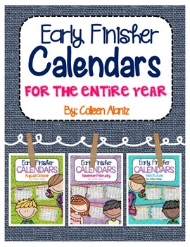 Early Finisher Calendar Bundle