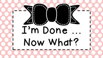 Early Finisher Task Cards :: Polka Dots