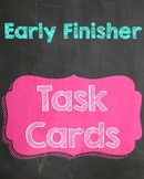 Early Finisher Chalkboard Sign