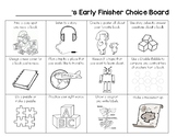 Early Finisher Choice Board