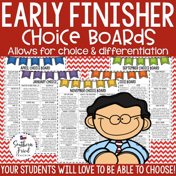 Early Finisher Choice Boards