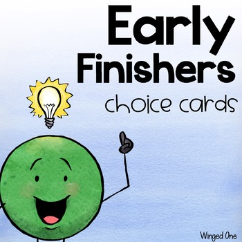 Early Finisher Choice Cards