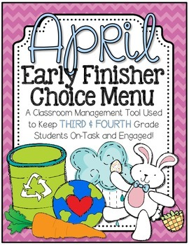 Early Finisher Choice Menu - April