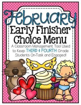 Early Finisher Choice Menu - February