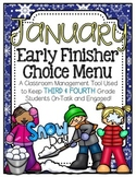 Early Finisher Choice Menu - January