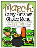 Early Finisher Choice Menu - March