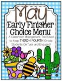 Early Finisher Choice Menu - May