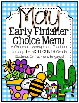 Early Finisher Choice Menu - May