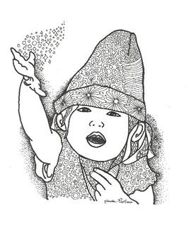 Early Finisher Coloring Sheet Magic Girl