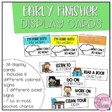 Early Finisher Display Cards