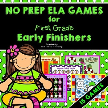 Early Finishers: First Grade Early Finisher Activities and