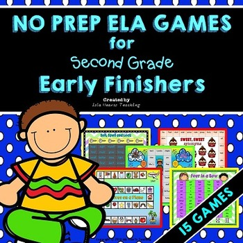 Early Finishers: Second Grade Early Finisher Activities an