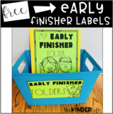 Early Finisher Folder Bin Labels