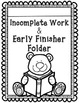 Early Finisher Folder and Materials