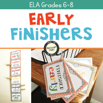 Early Finisher Ideas Free