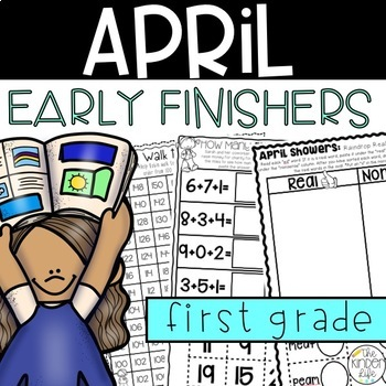 Early Finisher Journal: April Above & Beyond First Grade Vowel Teams Addition