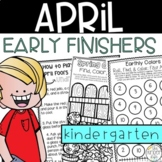Early Finishers April Journal Kindergarten
