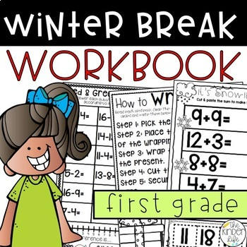 First Grade Winter Break or Early Finisher Journal December {NO PREP}