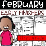Early Finishers February Journals First Grade