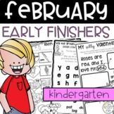 Early Finishers February Journals Kindergarten