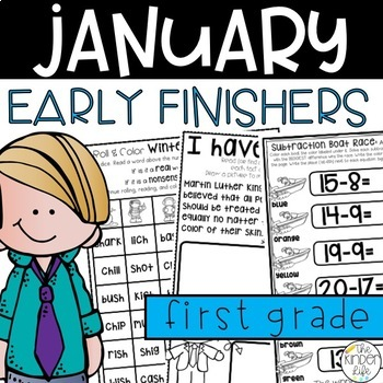Early Finisher Journal: January Above & Beyond First Grade Digraphs, Odd & Even