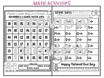Early Finisher Journal: January Above & Beyond Kindergarten Short Vowels Rhyming
