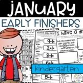 Kindergarten Early Finishers Activities January