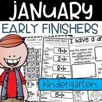 Early Finisher Journal: January Above & Beyond Kindergarte