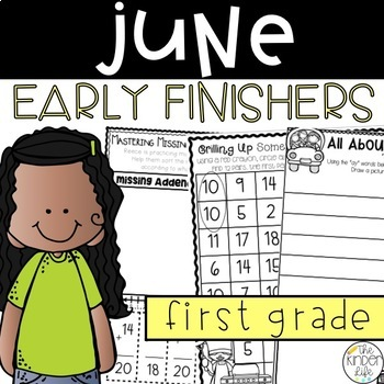 First Grade Early Finisher Journal June Math Story Problems