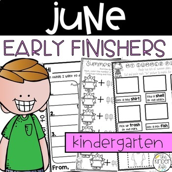 Early Finisher Journal: June Above & Beyond Kindergarten Digraphs Punctuation
