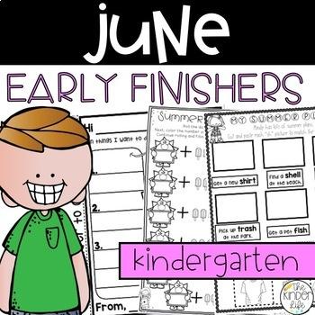 Early Finisher Journal: June Above & Beyond Kindergarten D