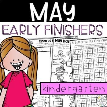 Kindergarten Early Finishers Activities May