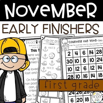Early Finishers November Journals First Grade