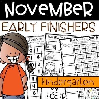 Early Finishers November Journals Kindergarten
