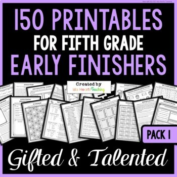 Early Finishers: Fifth Grade Early Finisher Activities for Fast Finishers