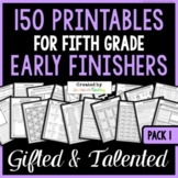 Early Finishers: Fifth Grade Early Finisher Activities for