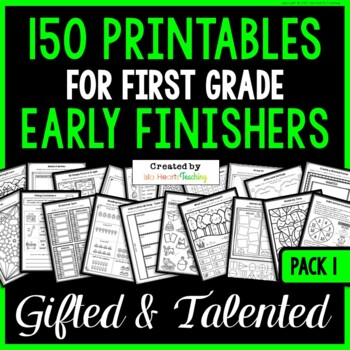 Early Finishers: First Grade Early Finisher Activities for Fast Finishers