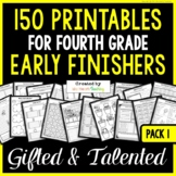Early Finishers: Fourth Grade Early Finisher Activities for Fast Finishers