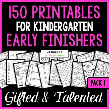 Early Finishers: Kindergarten Early Finisher Activities for Fast Finishers