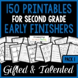 Early Finishers: Second Grade Early Finisher Activities for Fast Finishers