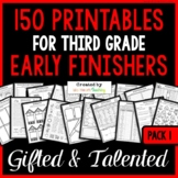 Early Finishers: Third Grade Early Finisher Activities for