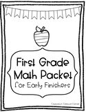 Early Finisher Math Packet